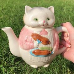 "cottagefaeries: ""heres a better picture of my favorite teapot that i posted a while ago ✨🌱 "" Kawaii, Sestri Levante, Doja Cat, Polly Pocket, In Kindergarten, Goblin, Tea Set, Kitsch, Tea Party"