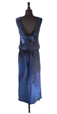 Vintage 1960's Navy Metallic Lurex Formal Skirt by TheHoneyWitch