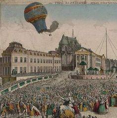 Annonay 1783. Les frères Montgolfier font voler le 1er ballon à air chaud