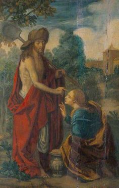 Christ and Mary Magdalene (Noli me Tangere) by unknown artist