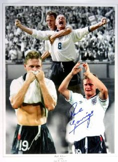 """Italia Gazza earned 57 caps during his England career and has been described by the National Football Museum as """"the most naturally gifted English midfielder of his generation"""". Legends Football, Football Stickers, England Football, National Football Teams, Team Player, Coming Home, Career, Museum, English"""