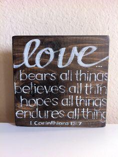 Scripture Art  Wall Art  Love Bears Believes by graceforgrace, $22.00