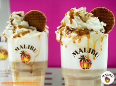 malibustroopwafellatte - Malibu Rum Drinks Malibu Rum Drinks, Winter Cocktails, Latte Macchiato, Smoothies, Pudding, Ice Cream, Desserts, Cocktails, Beverages