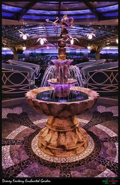 The Enchanted Garden on the Disney Fantasy Cruise Ship