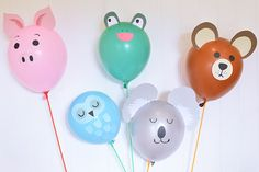 My Owl Barn: Crafts - cute animal balloons