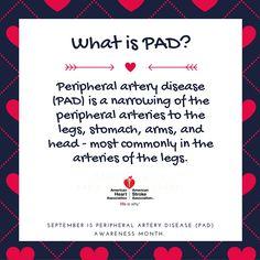 Sept is PAD Awareness Month. #AHAPADaware