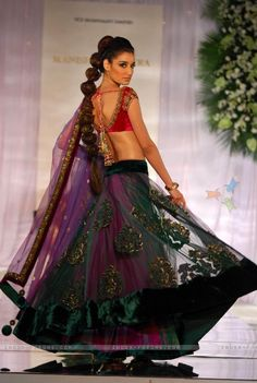 Saree made by Bollywood fashion designer Manish Malhotra