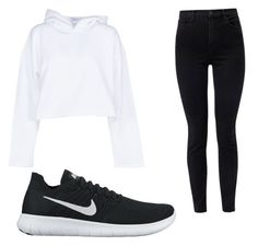 """""""Nike"""" by ashleejosias23 on Polyvore featuring Golden Goose, J Brand and NIKE"""