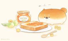 Cute Kawaii Animals, Cute Animal Drawings Kawaii, Kawaii Art, Cute Cartoon Wallpapers, Animes Wallpapers, Snoopy Wallpaper, Food Wallpaper, Pusheen Cute, Cute Food Drawings