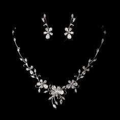 Beautiful Earrings and Necklace Set for Your Special Event StressAwayBridalShop.com
