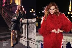 Gracing the pages of ELLE Norway's December 2015 issue, model Anne-Mette Ryom poses in the city of love—Paris—for a nighttime shoot. Photographer Asa Tallgard captures the redhead in chic looks perfect for an evening out on the town. Stylist Petra Middelthon selects a mix of fur coats, sexy gowns and boots from the likes of …