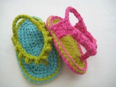 Flip Flops for Baby Crochet Pattern