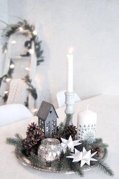 Classy Christmas, Noel Christmas, Beautiful Christmas, White Christmas, Christmas Lights, Christmas Crafts, Modern Christmas, Minimal Christmas, Natural Christmas