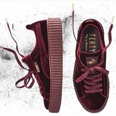 It's that time again! #THECREEPER has returned in new velvet color ways! Available DECEMBER 8th at PUMA.com #FENTYxPUMA #Burgundy