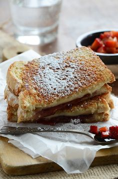 Strawberry Grilled Cheese with Fresh Strawberry Balsamic Relish