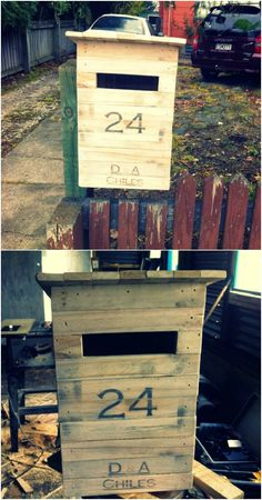 Upcycled Pallet Letter Box