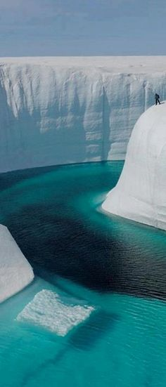 Magnificent ice canyon in Iceland