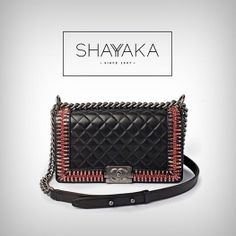 Chanel Boy Bag with Embellished Edges | Fall 2014 | Available Now For Pre Order  For inquiries, please contact sales@shayyaka.com or +961 71 594 777 (Call, SMS, WhatsApp, or iMessage) or Direct Message on Instagram (@Shayyaka). Guaranteed 100% Authentic | Worldwide Shipping | Credit Cards or Bank Transfer