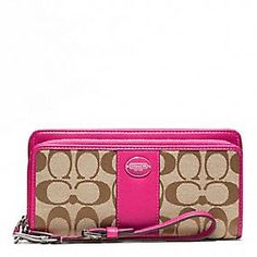 Coach :: LEGACY SIGNATURE DOUBLE ZIP ACCORDION ZIP good when going out and don't want to carry a big purse