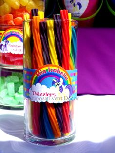 I would do skittles instead... My Little Pony Birthday Party Ideas | Photo 1 of 24 | Catch My Party
