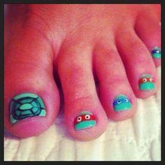 Ninja turtles. My kids would love these.