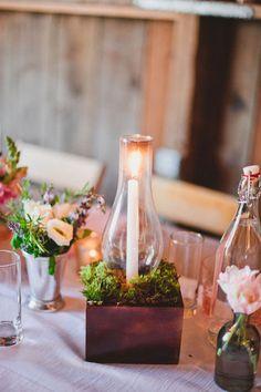 #centerpiece, #candle  Photography: Mark Brooke Photography - markbrooke.com Planning + Design: Joy de Vivre Wedding Coordination - joydevivre.net Floral Design: NLC Productions - nicosb.com  Read More: http://www.stylemepretty.com/2013/04/10/solvang-wedding-from-joy-de-vivre-event-design-boutique/