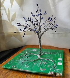 CIRCUITree resistor and circuit board tree sculpture by digiBling