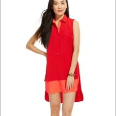 Tommy Hilfiger tiered Red Silk hi-low dress  Tommy Hilfiger tiered Red Silk hi-low dress, size : XS, New but Tags were removed. Tommy Hilfiger Dresses High Low