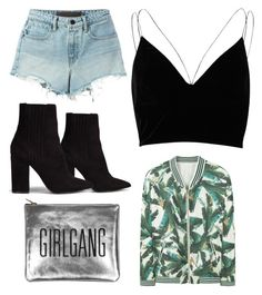 """Tropical "" by boturovic-kristina on Polyvore featuring Nly Shoes, T By Alexander Wang, MANGO, Sarah Baily and River Island"