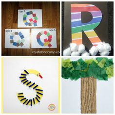These letter of the week crafts give young kids a fun way to learn what sounds to associate with what letter. All the letters in one place! Fun Activities For Preschoolers, Alphabet Activities, Preschool Alphabet, Math Activities, Toddler Activities, Preschool Writing, Preschool Crafts, Teaching Abcs, Preschool Schedule
