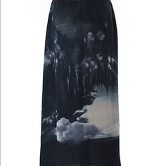 Vince Camuto ethereal skirt Vince Camuto beautiful ethereal cloud design skirt. New with tags. No signs of wear or flaws. 100% polyester. Maxi skirt length is 39 in. Ships within one week. Vince Camuto Skirts Maxi