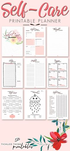 Self-Care Printable Planner Holiday Planner Best of Tickled Think Mental Health Journal, Improve Mental Health, Health And Beauty Tips, Health Tips, Health Care, Vie Motivation, Holiday Planner, Coping With Stress, Printable Planner