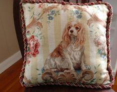 Handmade Cavalier King Charles Spaniel Pillow