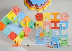 #origami #paper #fold |Set design by Mathilde Nivet for Origamijewellery