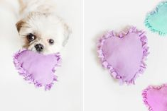 Make your dog a Love Heart Toy for Valentines <3 :: 15 Beautiful & Easy Valentines Day DIY Gifts - Pretty Fluffy