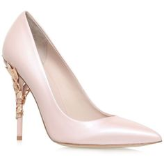 Ralph & Russo Eden Heel Pumps ($1,655) ❤ liked on Polyvore featuring shoes, pumps, patent leather pumps, heels stilettos, pointy toe pumps, pointy toe stiletto pumps and pointed toe stiletto pumps