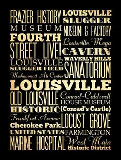 well-known names and attractions of Louisville, Kentucky