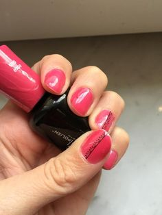 BBCA 25~October 25, 2014~Bowknot Leaf Rose Sticker in number C068 and Sally Hansen Salon Gel Polish in Back to the Fuchsia.