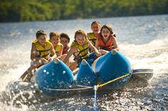 Water sports at Camp Takajo, a boys summer camp in Naples, Maine