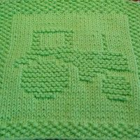 Tractor Knit Dishcloth Pattern