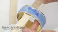 How to Add 2-Part Resin to a Curved Surface by Becky Nunn