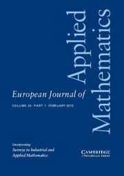 European Journal of Applied Mathematics - http://journals.cambridge.org/EJM