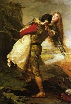 The Eve of Saint Agnes, 1863, John Everett Millais Size: 117.8x154.3 cm Medium: oil, canvas