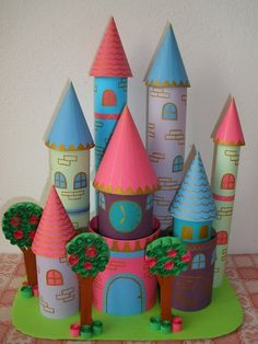 Image result for cardboard castle make