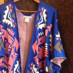 Flying Tomato Aztec Print Cardigan So many great and versatile colors in this cardigan! Coral, olive brown, cream and cobalt blue, perfect with your favorite jeans or cut of shorts, NWOT, purchased at Nordstrom, perfect condition  Flying Tomato Sweaters Cardigans