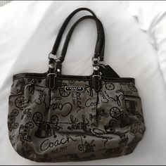 Coach purse Coach purse slight stain on right corner. Comes from a smoke free home!! Ready to ship just for YOU!! Great condition, Price is firm.  ***everything not sold by April 26th will be taken down for a while.. So hurry and make your order so that I can ship it to you!! **** Coach Bags