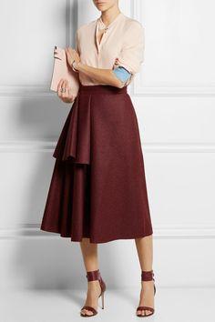 Avison draped wool-blend felt skirt, Roksanda Ilincic, $2015