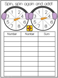 15 minute beginning of the day exercise or a just starting centers quick addition activity.