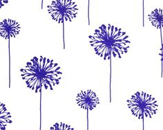 dandelion print cotton fabric