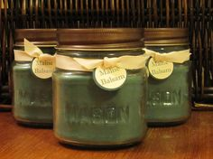 Maine Balsam Soy Candle 8 oz Mason Jar by CharmingInteriors